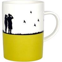the art rooms mustard bird watching mug
