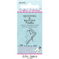 Needles by John James Crafters Collection Quilt and Basting Needles, Pack of 16