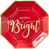 Ginger Ray Merry & Bright Plates, Pack of 8