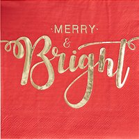 Ginger Ray Merry & Bright Napkins, Pack of 20