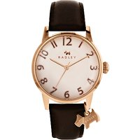 Radley RY2592 Women's Liverpool Street Leather Strap Watch, Cocoa/Cream