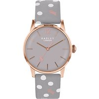 Radley Women's Vintage Dog Dot Leather Strap Watch