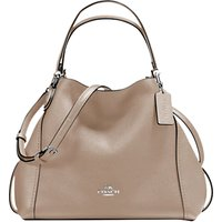 Coach Edie 28 Leather Shoulder Bag, Stone