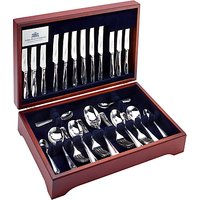 Arthur Price Rattail Cutlery Canteen, Sovereign Silver Plated, 44 Piece/6 Place Settings
