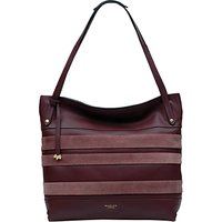 Radley Willow Striped Leather Large Tote Bag