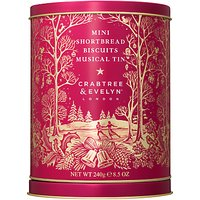 Crabtree & Evelyn Mini Shortbread Biscuits Musical Tin, 240g