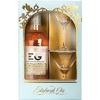 Edinburgh Gin Winter Palace Rhubarb Liqueur and Cocktail Glasses Set