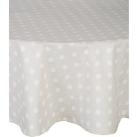 John Lewis & Partners Polka Dot Wipeable Round Tablecloth, Dia.180cm