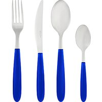 House by John Lewis Vero Blue Cutlery Set, 16 Piece