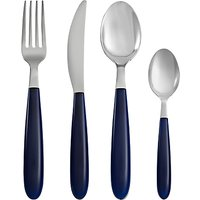 House by John Lewis Vero Navy Cutlery Set, 16 Piece