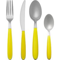 House by John Lewis Vero Dandelion Cutlery Set, 16 Piece