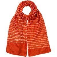 East Shibori Bandhi Silk Scarf, Ginger