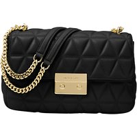 MICHAEL Michael Kors Sloan Leather Long Chain Shoulder Bag, Black