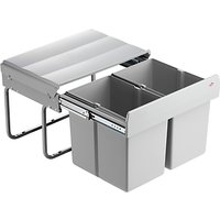 Wesco Shorty Double Pull-Out Kitchen Bin, 30L, Grey