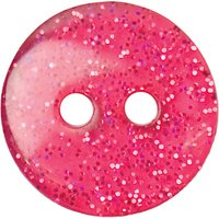 Groves Glitter Button, 12mm, Pack of 5, Pink