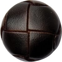 Groves Leather Look Button, 20mm, Pack of 3, Brown