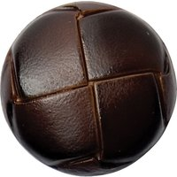 Groves Leather Look Button, 22mm, Pack of 2, Brown