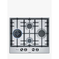 Bosch Serie 6 PCI6A5B90 Gas Hob, Stainless Steel