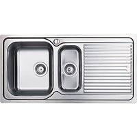 Clearwater Zumba 1.5 Bowl Inset Kitchen Sink, Stainless Steel