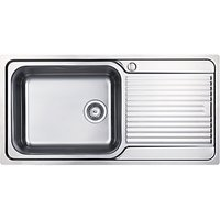 Clearwater Zumba Single Bowl Inset Kitchen Sink, Stainless Steel