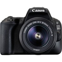 Canon EOS 200D Digital SLR Camera with 18-55mm f/3.5-5.6 III Lens, 1080p Full HD, 24.2MP, Wi-Fi, Bluetooth, NFC, Optical Viewfinder, 3 Vari-angle Touch Screen, Black