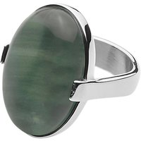 Dyrberg/Kern Retro Gem Cocktail Ring, Green/Silver