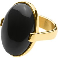 Dyrberg/Kern Retro Gem Cocktail Ring, Black/Gold