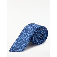 Paul Smith Floral Silk Tie, Blue