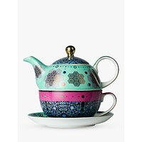T2 Moroccan Tealeidoscope Teapot For One, Aqua/Multi