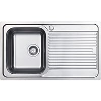 Clearwater Zumba Smaller Single Bowl Inset Kitchen Sink, Stainless Steel