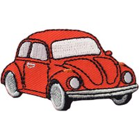 Habico Iron On Red Beetle Car Motif