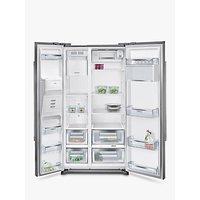 Siemens KA90DVI20G Freestanding iQ500 American Style Fridge Freezer, A+ Energy Rating, 91cm Wide, Stainless Steel
