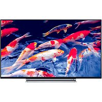 Toshiba 49U6763DB LED 4K Ultra HD Smart TV, 49 with Built-In Wi-Fi, Freeview HD & Freeview Play, Bla