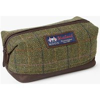John Lewis Made in England Moon Check Wash Bag, Brown