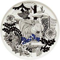 Marimekko Veljekset Side Plate, White/Black/Blue, 20cm