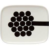 Marimekko Hortensie Side Plate, Black/White