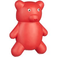 Fred & Ginger Rubber Teddy Dog Toy, Red