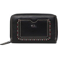 Tula Mallory Leather Medium Zip Wallet, Black