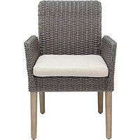 John Lewis and Partners Eden Outdoor Dining Chairs, FSC-Certified (Eucalyptus), Salima Wash, Set of 2