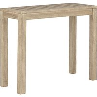 John Lewis & Partners St Ives Outdoor Side Table, FSC-Certified (Eucalyptus Wood), Natural