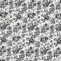Sevenberry Ink Watercolour Flower Print Fabric, Blue
