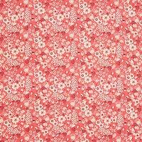 Indigo Fabrics Garden Floral Print Viscose Fabric, Pink