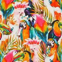 John Louden Tropical Birds Print Fabric, Multi