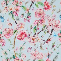 John Louden Japanese Floral Print Fabric, Blue