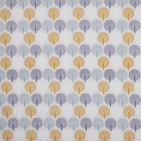 Dashwood Studio Inflated Trees Print Fabric, Grey