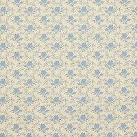 Rose & Hubble Vintage Rose Fabric, Cream/Blue