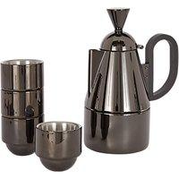 Tom Dixon Brew Stove Top Coffee Maker Set, Black