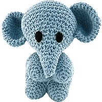 Hoooked Crochet Your Own Elephant Kit, Blue
