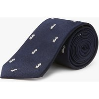 Chester by Chester Barrie Poodle Dog Silk Tie, Navy