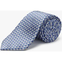 Chester by Chester Barrie Grain Pattern Silk Tie, Blue/Silver